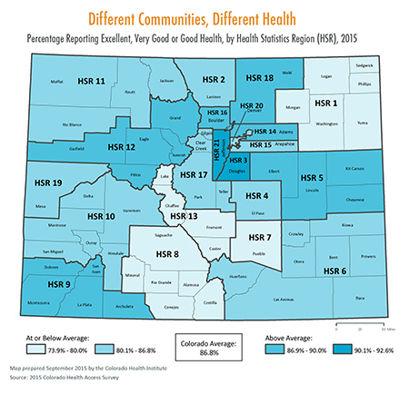 County Spotlight Health Status Map