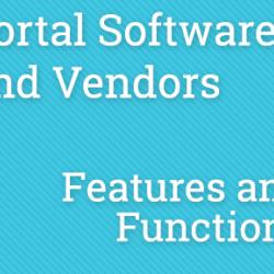 PPKC - Portal Software and Vendors - Features