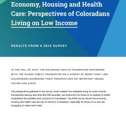 Low income report cover