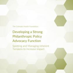 Developing Policy Advocacy ORS Report Cover