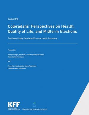Coloradans' Perspectives on Health, Quality of Life, and Midterm Elections Report Cover