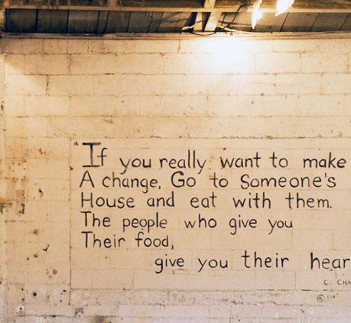 Westwood Food Coop Wall Quote