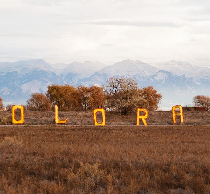 Colorado letters sign