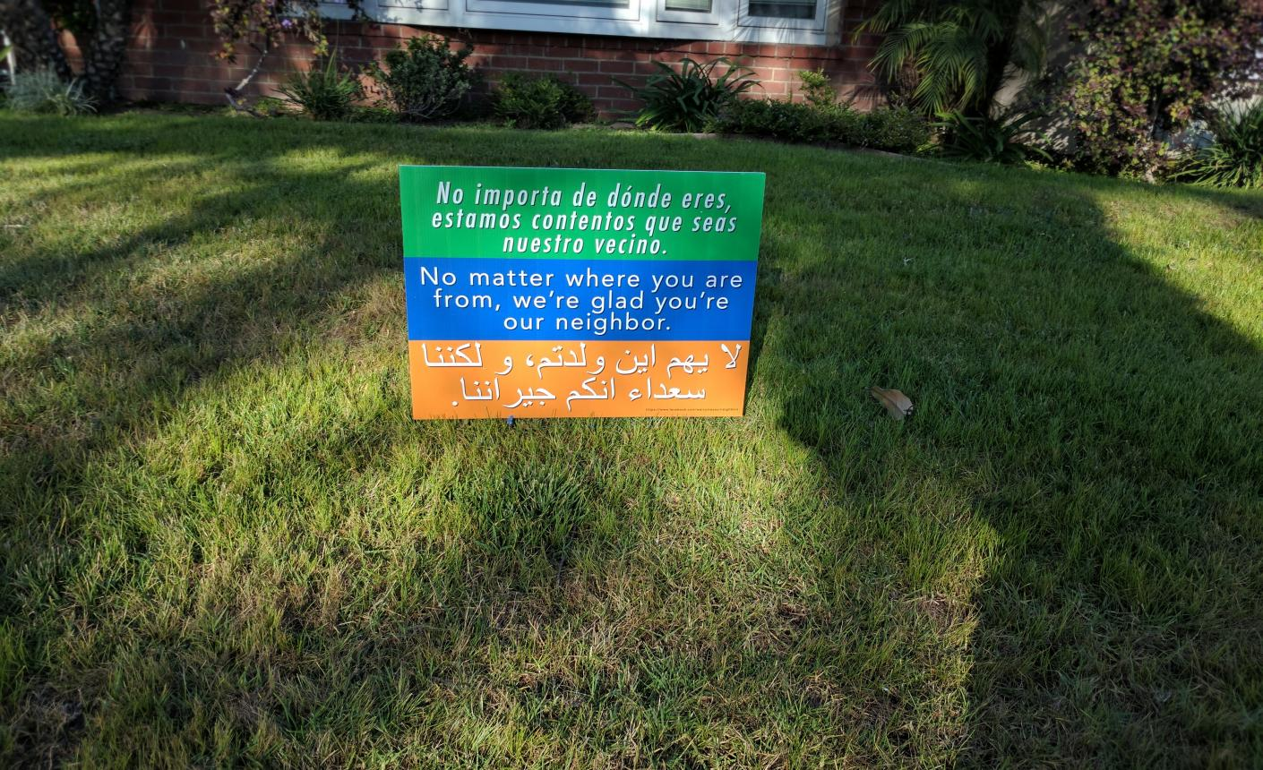 Neighbor sign